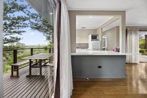 Deluxe Two Bedroom Deck and Kitchen